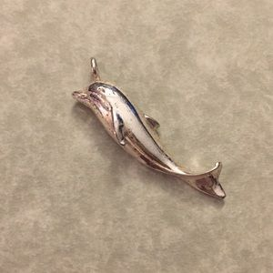 Sterling Silver Dolphin Necklace Charm